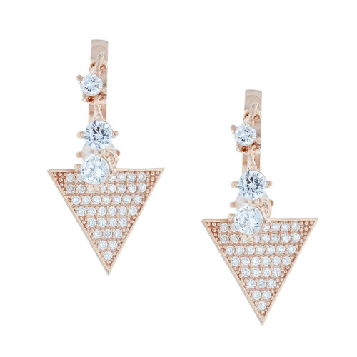 Turkish Triangle Lauren Crystal Dangle Earrings