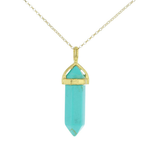 Small Turquoise Crystalline Pendant