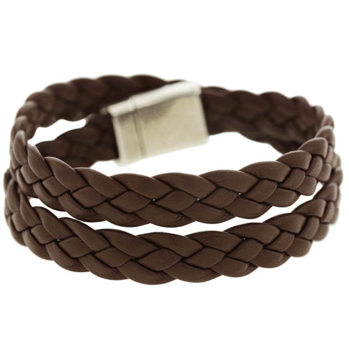 Brown Braided Wrap Bracelet