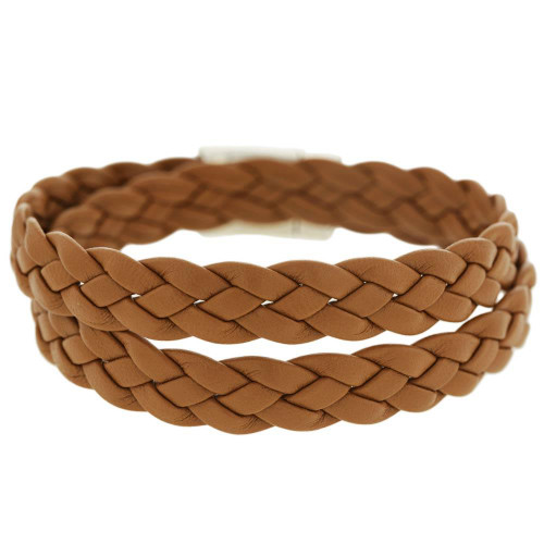 Tan Braided Wrap Bracelet