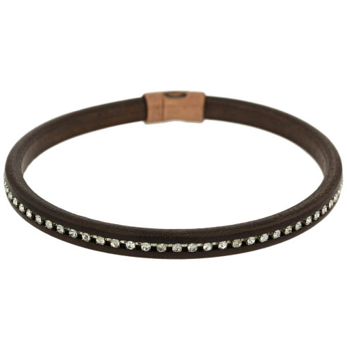 Brown Copper Clasp Crystal Choker