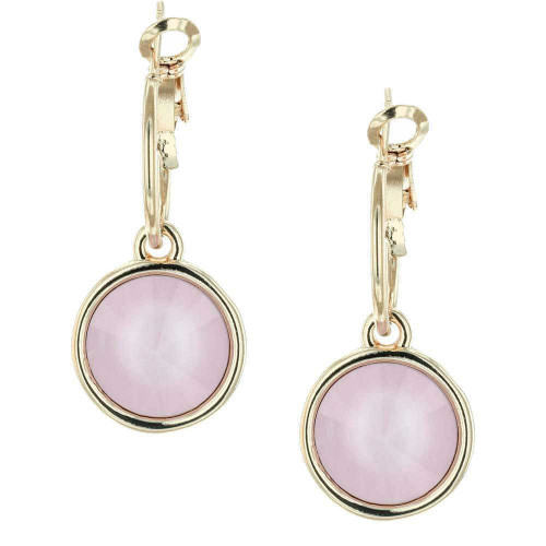 Powder Pink Bella Gold Earrings
