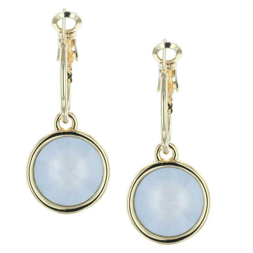 Powder Blue Bella Gold Earrings