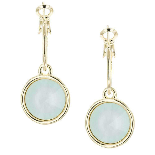 Powder Green Bella Gold Earrings