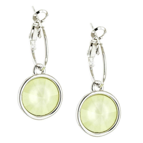 Powder Yellow Rhodium Bella Earrings