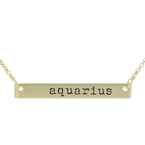 Aquarius Bar Necklace