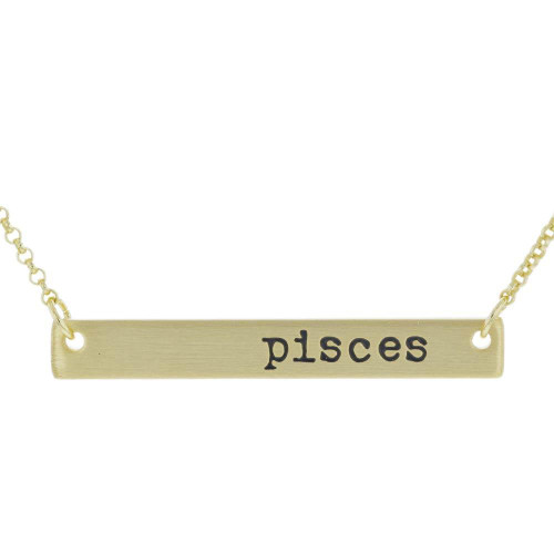 Pisces Bar Necklace