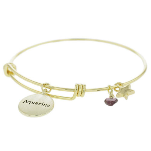 Aquarius Constellation Charm Bracelet