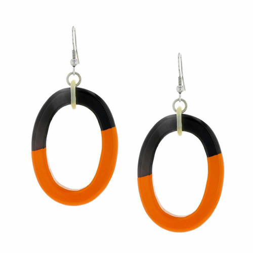 Tribal Orange Earrings
