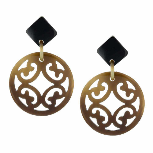 Tribal Emblem Circular Earrings
