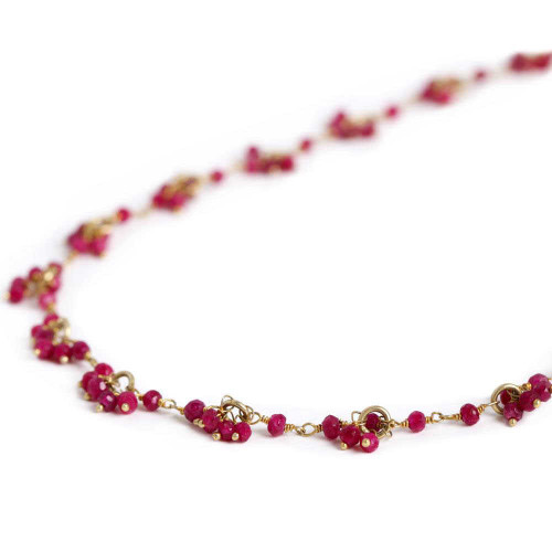 Ruby 8 inches Drop Necklace