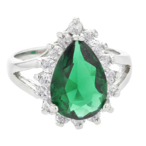 Ice Queen Green Crystal Ring