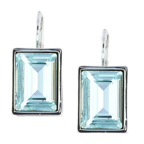 Passion Aqua Rhodium Earrings