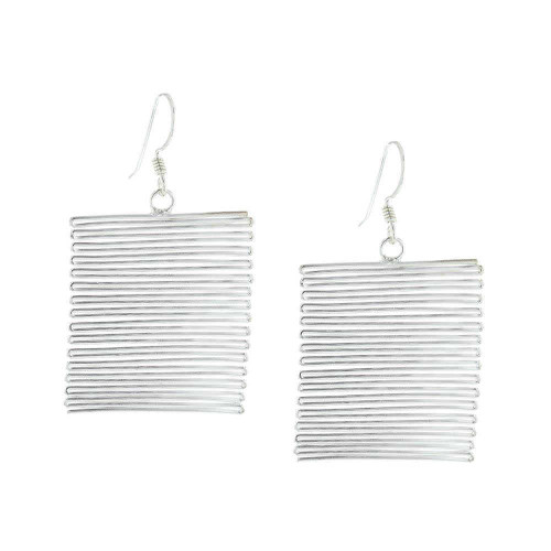 Horizontal Cable Cord Earrings