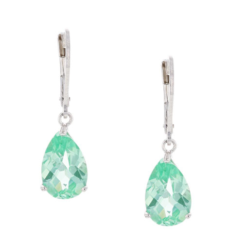 Celeste Green Pear Spinel Earrings