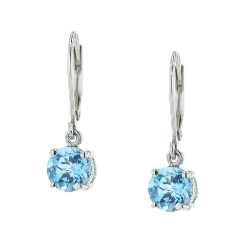 Celeste Blue Topaz Drop Earrings