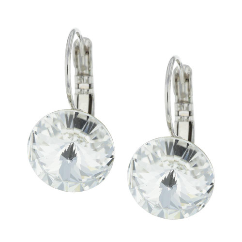 Glam Crystal White Earrings