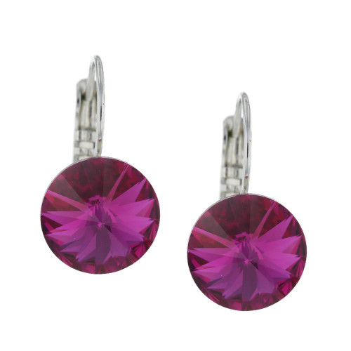 Glam Crystal Fuschia Earrings