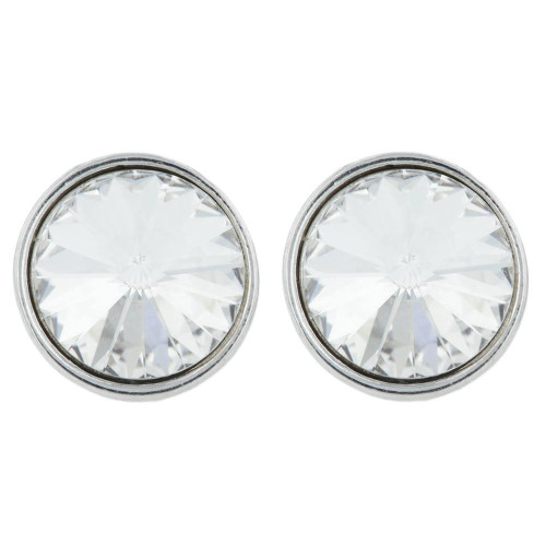 Twinkle White Crystal Stud Earrings