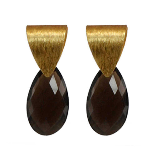 Chic Smokey Quartz Earrings