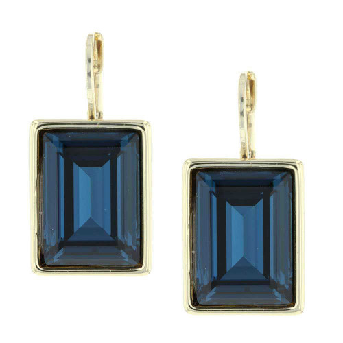 Passion Royal Blue Gold Earrings