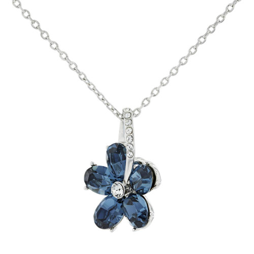 Blue Flower Crystal Pendant