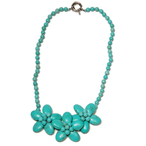 Botanical Turquoise Necklace