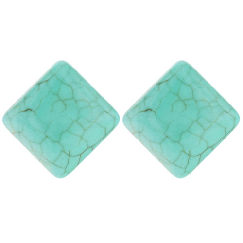 Turquoise Square Stud Earrings