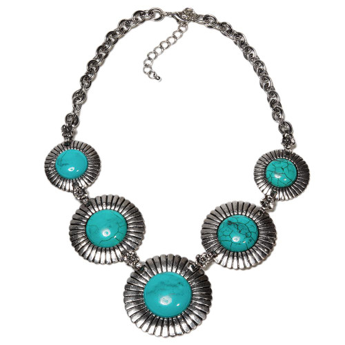 Turquoise Sunrise Necklace Set