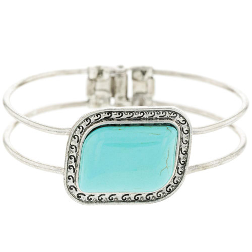 Turquoise Rhombus Bangle