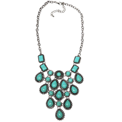Turquoise Bib Necklace Set