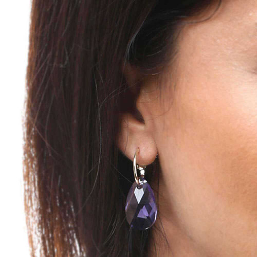 Grape Rock Candy Gold Earrings