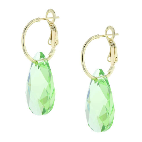 Green Apple Rock Candy Gold Earrings