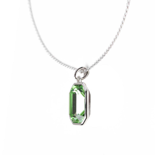 Passion Green Rhodium Necklace