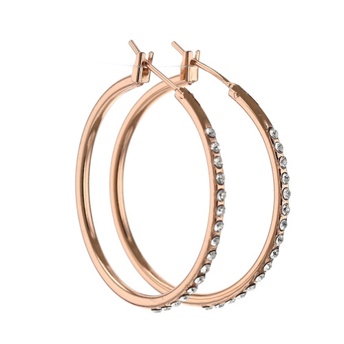 Endless Rose Hoop Earring