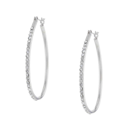 Somerset Rhodium Hoop Earrings