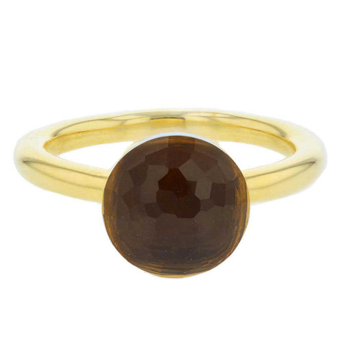 Brown Cognac Quartz Mademoiselle Ring