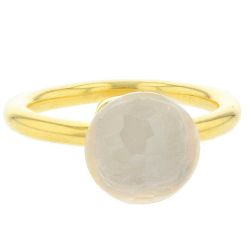 White Opaque Mademoiselle Ring