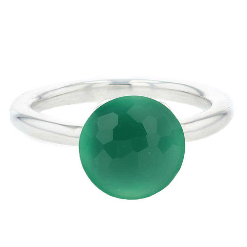 Green Agate Mademoiselle Ring