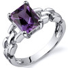 Chain Link Design 2.00 carats Alexandrite Engagement Sterling Silver Ring
