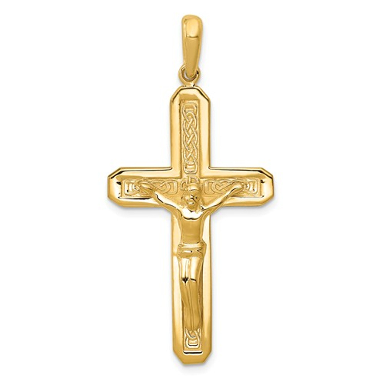 JewelsObsession Sterling Silver 48mm Crucifix Charm w//Lobster Clasp