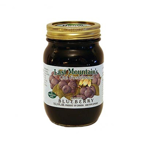 Fresh tasting, no preservatives, low in sugar, all natural; Jam Type Spread is an innovation in fruit processing. It does not involve boiling the berries leaving a fresh taste and fruit you can see. Last Mountain is produced in rural Saskatchewan. Smaller batch sizes and attention to quality make the difference. Mmmm...a true taste experience.