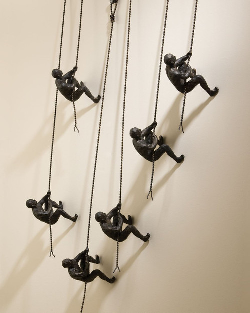 Climbing Man Wall Sculpture