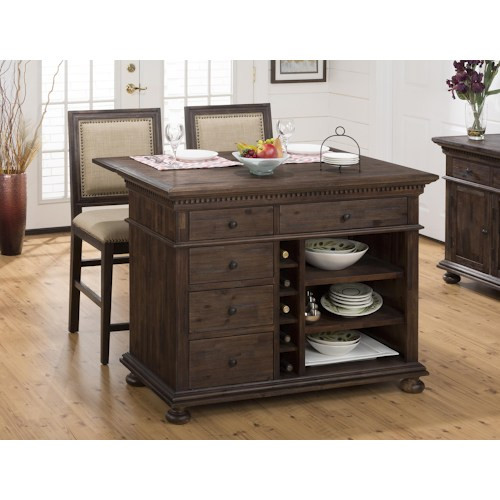 Geneva Hills Kitchen Island and Chair Set
