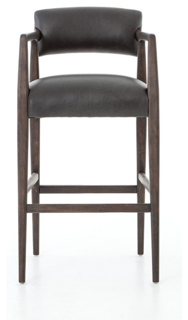 Chaps Leather Stool