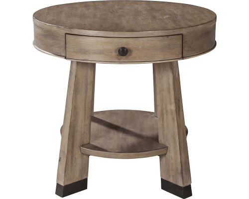 Franklin Round Drawer End Table
