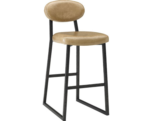 Alhambra Metal and Leather Bar Stool