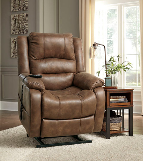 Item Number: 1090012 Description: Power Lift Recliner Series Number: 10900 Series Name: Yandel Color: Saddle Style: Contemporary