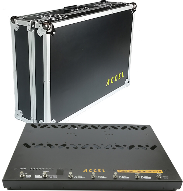 Accel FX22 Command Center: 8 Loop Switcher Pedal Board & Hard Shell Case.