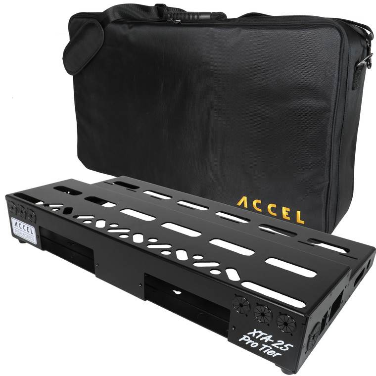 Accel XTA25 pedalboard with Tote